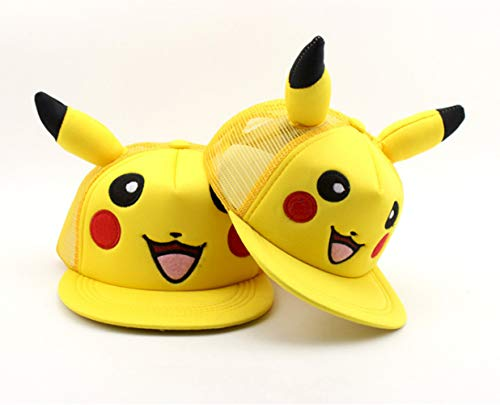 Imagen de pokémon  de béisbol de dibujos animados pikachu hip hop sombrero para el sol 3 8 años de edad tapa de malla de los niños se puede ajustar alternativa