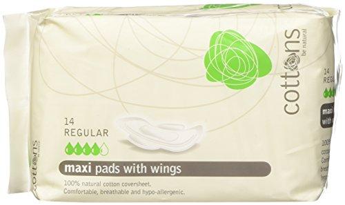 Cottons Compresa Maxi Alas Regular Algodón 100% -