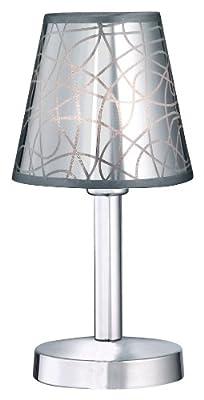 Trio-Leuchten 592110187 Tischleuchte Touch me inklusiv 1x G9 28 W Eco, Chrom, PVC-Schirm chrom beschichtet von Trio Leuchten - Lampenhans.de