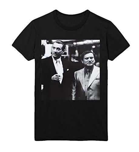 Casino Film Friends Robert De Niro Joe Pesci Nicky Herren Men Men's T-Shirt Black Shirt Baumwolle Cotton Herren LG Men's Black T-Shirt