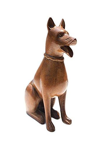 Scultura di cane in legno fatto a mano boulevarte | scultura in legno di noce naturale | statuetta per cane in legno | scultura antica di piccolo cane | regalo per gli amanti dei cani | lunghezza - 13 cm di larghezza - 6 cm di altezza - 19 cm; peso - 200 g