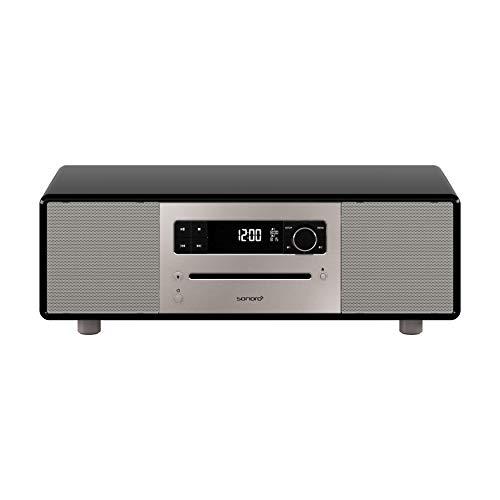 sonoro Lounge Kompaktanlage (UKW/FM/DAB+ Radio, CD-Player, AUX-In, Bluetooth, Meditationsinhalte) Schwarz - 2.1 Stereo Musikanlage - Fm Zwei-wege-radio