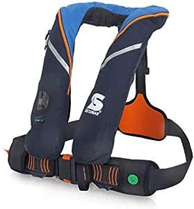 Automatische Rettungsweste Secumar Survival 220 Harness dunkelblau/hellblau / orange