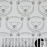 Arktis Eisbär Schablone. Kinderzimmer Schlafzimmer Startseite-Wand-Dekor Malerei Schablone. Dekoration Wände Stoff & Möbel Wiederverwendbar Ideal Stencils Ltd