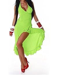 Damen Neckholder Kleid in Einheitsgröße und verschiedenen Saisonfarben (32-38)