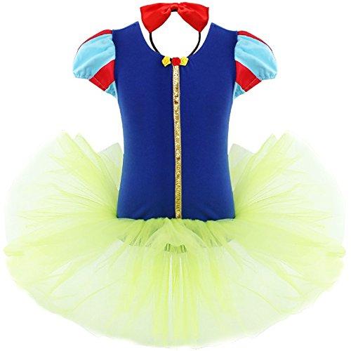 FEESHOW Niña Bebé princesa de cuento de hadas vestido elegante traje de Disfraz con cabeza banda para Vestir Halloween Cosplay Multicolor 1-2