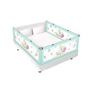 Color : Gray, Size : 1m LICHUN Bettgitter Sichere Und Tragbare Schutz- // Kinderbettpuffer for Kleinkinder 5 Gr/ö/ßen for Zu Hause 3 Farben 50cm/×2 for Reisebetten