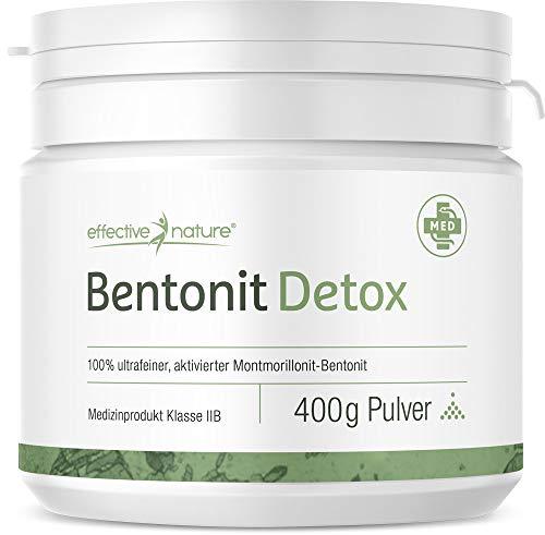 effective nature Bentonit Pulver - Ideal bei Darmreinigung und Darmkuren (Medizinprodukt IIB) - 400 g
