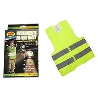 PMS 3ASS SZ DLX Safety Reflective Kids Waistcoat in PRTD Box