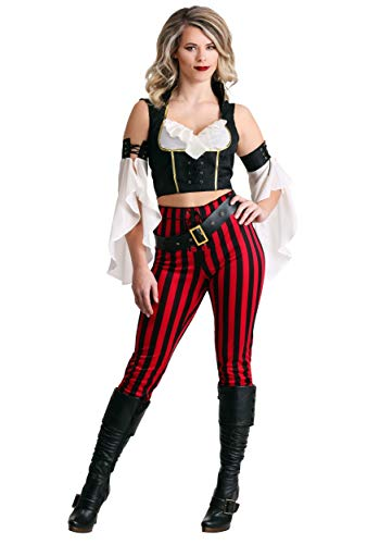 Hook Captain Kostüm Ladies - Womens Salty Sea Pirate Fancy Dress Costume Large