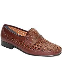 Zapato rejilla con cordon 30's en marrón talla 41 wkD1J5