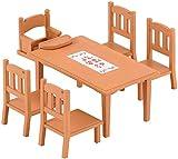 Sylvanian Families - 4506 - Table de Repas et chaises - Sylvanian
