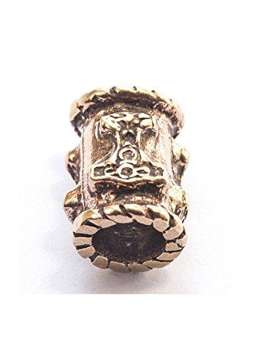 beard-bead-viking-dreadlock-bead-bronze-with-thors-hammer-6-mm-inner-diameter