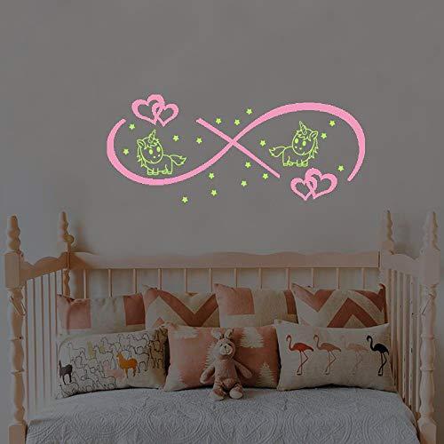 Liebe Zyklus Doppel Zauber fluoreszierende Aufkleber Wohnzimmer Schlafzimmer entfernbaren Hintergrund Wand leuchtende Aufkleber -
