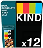KIND Bars - Healthy Snacks - Dark Chocolate Nuts & Sea Salt Multipack 12 x 40g