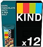 KIND Bars - Healthy Snacks - Dark Chocolate Nuts & Sea Salt Multipack 12 x 40g