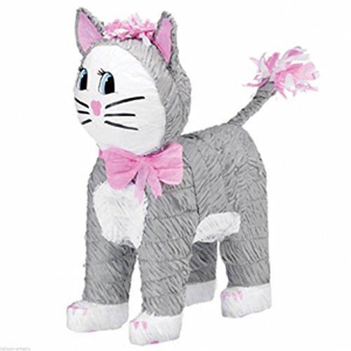 amscan Piñata Katze (grau) -