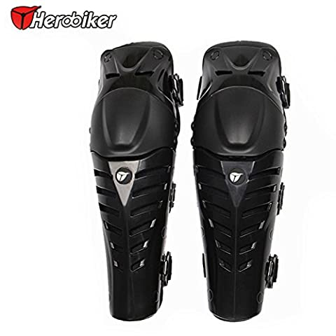 Professional Off-Road Motorbike Racing Knee Guard Pads Protective Gear Black
