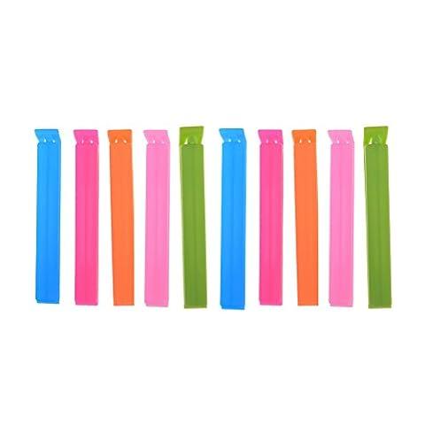 Waterstone Plastic Food Snack Bag Sealing Clips, 10 PCS, Random Color