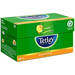 Tetley Green Tea, Lemon and Honey, 30 Tea Bags