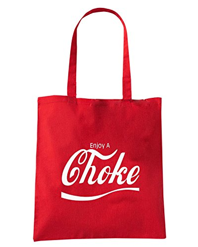 T-Shirtshock - Borsa Shopping ENJOY0004 Enjoy Choke Rosso