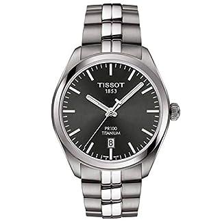 Tissot Reloj Analógico para Hombre de Cuarzo con Correa en Titanio T1014104406100