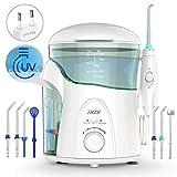 Idropulsore Dentale con Sterilizzatore UV, THZY Irrigatore Orale 600ml Famiglia Capacità Idropulsore con multifunzione Beccucci,Ideale per la Cura Dentale e Pulizia Flosser Acqua [FDA]