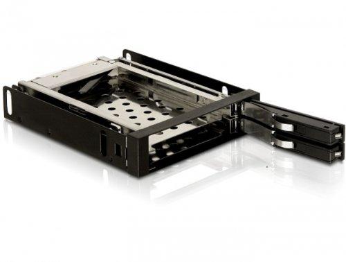 Delock 3.5 Zoll Wechselrahmen für 2x 2,5 Zoll SATA HDD -