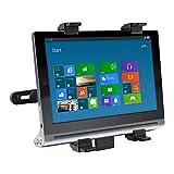 kwmobile Tablet Kopfstützenhalterung für Lenovo Yoga Tablet 2 8 830 Schwarz - Auto KFZ Kopfstütze Tablethalterung