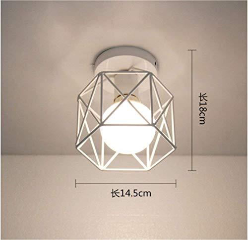 Iron Art Nouveau Industrial Corridor Lamp Warm Light 14 * 18Cm Studie Stillvoll Elegant (14 Sky-laternen)