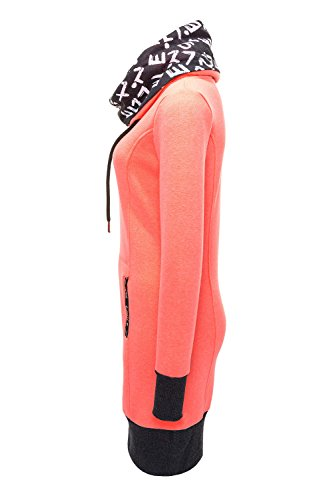 Hailys Damen Sweatkleid Longshirt Sweatshirt Sweater Pullover Pink