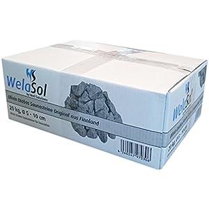WelaSol® Saunasteine 20kg Olivin Diabas Prime