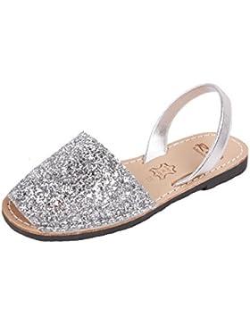 ria menorca Sandalen Avarcas Glitter Plata
