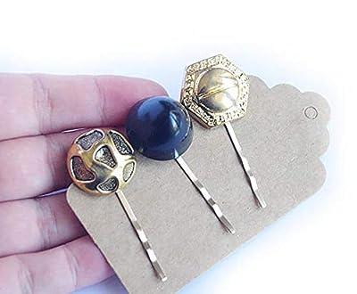 Barrette dorée bouton ancien/bijoux cheveux/accessoire coiffure vintage rétro/lot de barrettes originales/fête anniversaire cocktail/cheveux court ou long