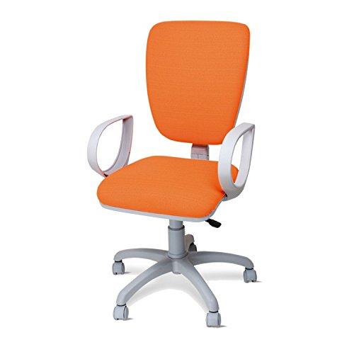 Sedie Da Ufficio Arancione.Poltrona Sedia Da Ufficio Girevole Per Scrivania Con Braccioli