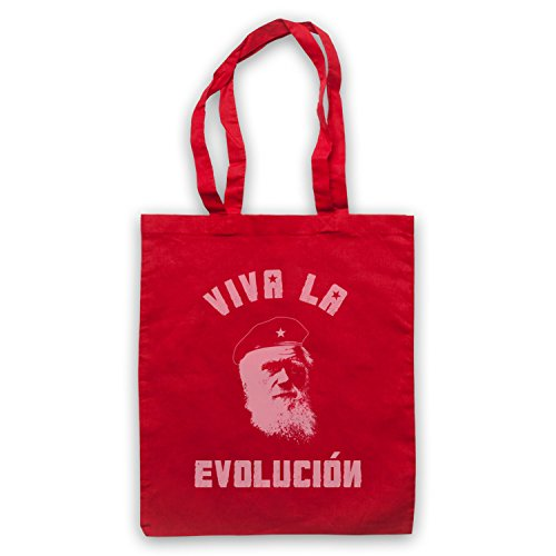Charles Darwin Viva La Evolucion Umhangetaschen Rot