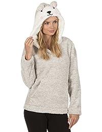 FOREVER soñando para mujer Snuggle traje de neopreno para mujer en la parte superior y sudadera con capucha de forro polar con cremallera completa para muy suave