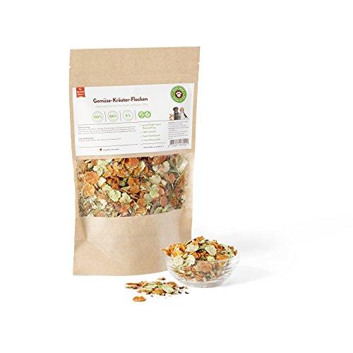 Nahrungsergänzung für Hunde und Katzen, Gemüse-Kräuter-Flocken 250g für Hunde | PETS DELI | Gesunde Hundenahrung, Mineralstoffreich, rein natürliche Inhaltsstoffe