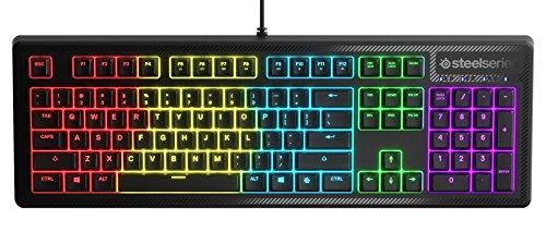 SteelSeries Apex150 - clavier de jeu avec éclairage RVB 5zones - résistant aux liquides - intégration de Discord - français AZERTY
