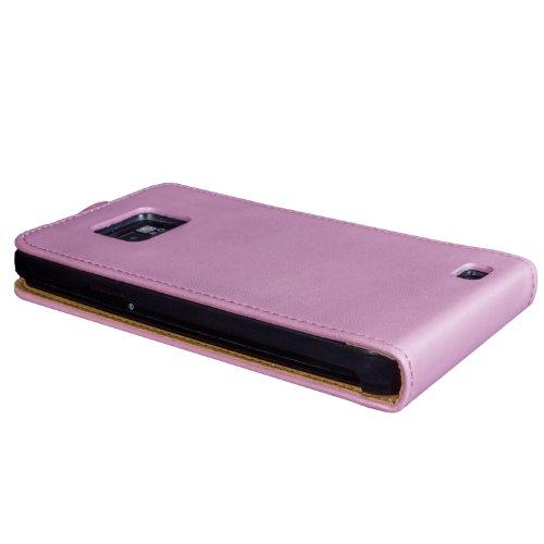 wortek Flip Case Samsung Galaxy S2 i9100 Tasche Rot S2 - Rosa