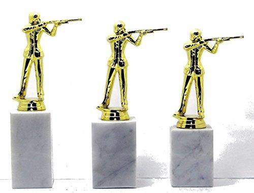 Pokal 3er set oder einzeln incl Beschriftung Pistolen Trophäe Schützen