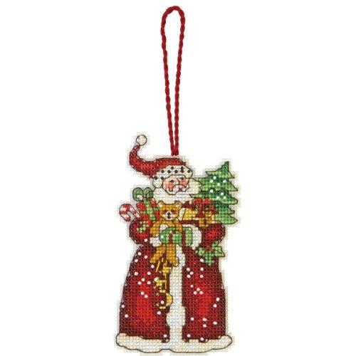 Dimensions Gezählter Kreuzstick Set, Susan Winget Santa Ornament (Ornament Santa Kit)