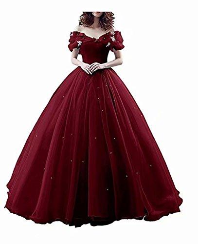 Damen Prinzessin Sweet 16 Schmetterling Ballkleid Cinderella Quinceanera Kleid