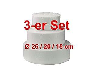Quadratisch Styropor 35 Cm Ø 5 Cm VertrauenswüRdig Torten Dummy