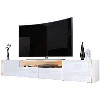 TV Board Lowboard Flow Korpus in Weiß Hochglanz Front in Weiß