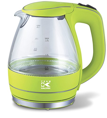 Team-Kalorik-Group TKG JK 1022 AG Design-Glas-Wasserkocher, 2200 W, 1,5 L