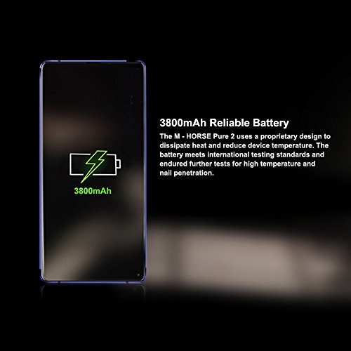 M-HORSE Pure 2 Smartphone 4G Android 7 0 sin contrato IPS 5 99 pulgadas  MTK6750  CPU Octa Core de 1 5GHz  ROM de 4GB RAM   64GB  tarjetas Dual Standb