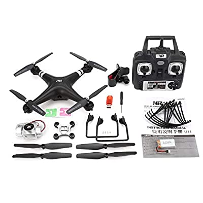 Funnyrunstore SH5HD 2.4G Drone RC Quadcopter with 720P Adjustable Wifi Camera Live Video Altitude Hold Headless Mode One Key Return(Color:black)