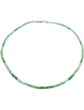 Harry Ivens Damen-Collier Halskette Sterling-Silber 925 rhodiniert Chrysopras Farbverlauf