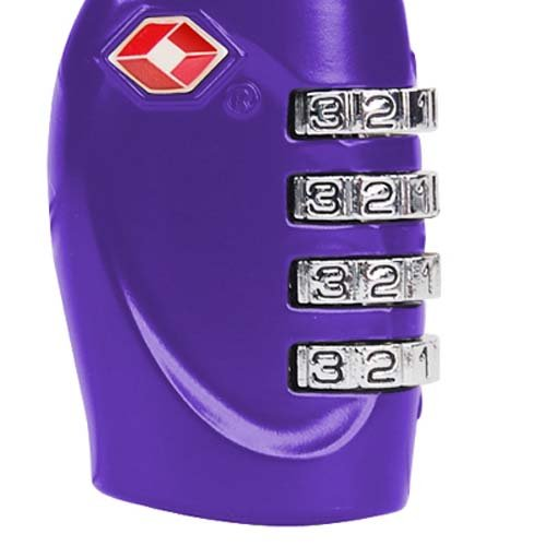 TRIXES 4-stelliges TSA-Zahlenschloss Vorhängeschloss für Gepäck, Tasche, Koffer - Hellblaue Violett
